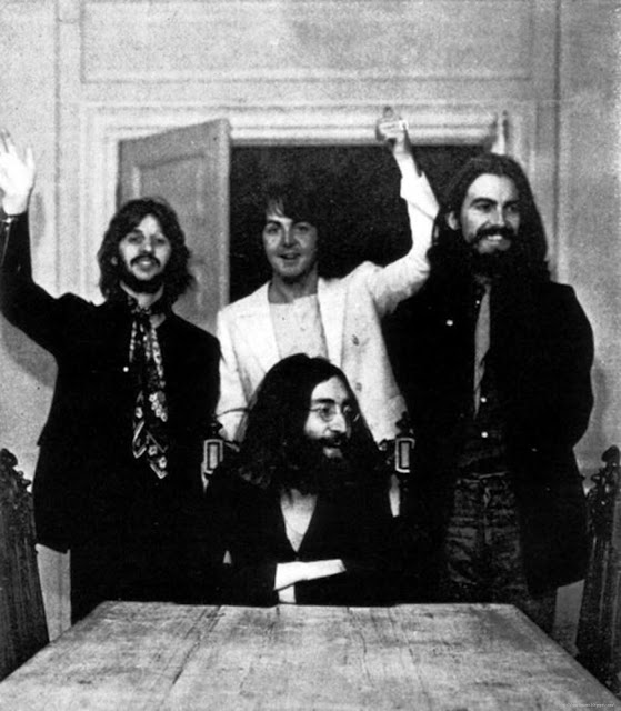The last photo of all four Beatles together, August 22, 1969