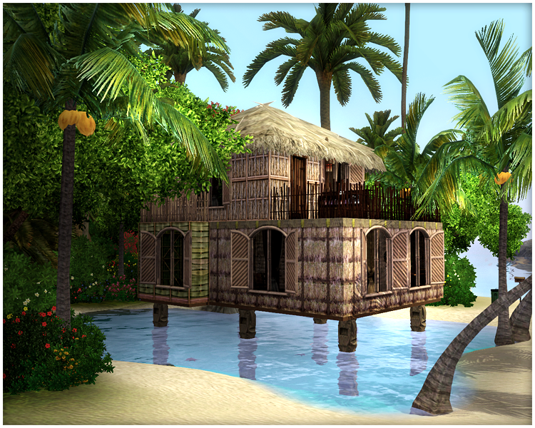 Sims  Island Paradise Houses On Water