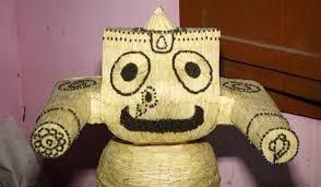 ৩৬৩৫ দেশলাই কাঠি দিয়ে অপূর্ব জগন্নাথদেবের মূর্তি গড়লেন সাহু