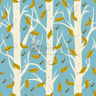 Seamless pattern vector of falling leaves in forest stock vector