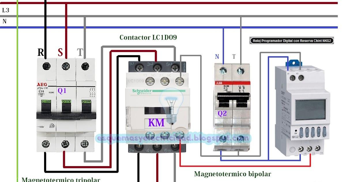Esquema el ctrico reloj programador digital con reserva for Esquema depuradora piscina