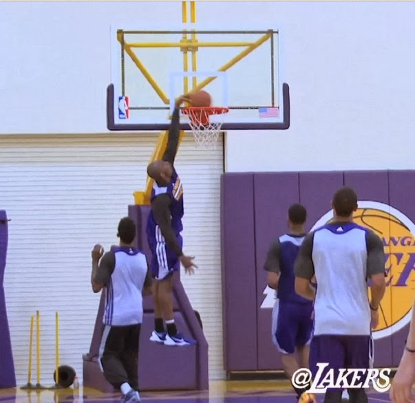 Kobe Bryant Dunks in Practice (December 4th, 2013) after the Achilles Injury