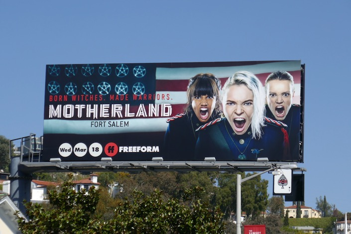 Motherland Fort Salem Freeform billboard