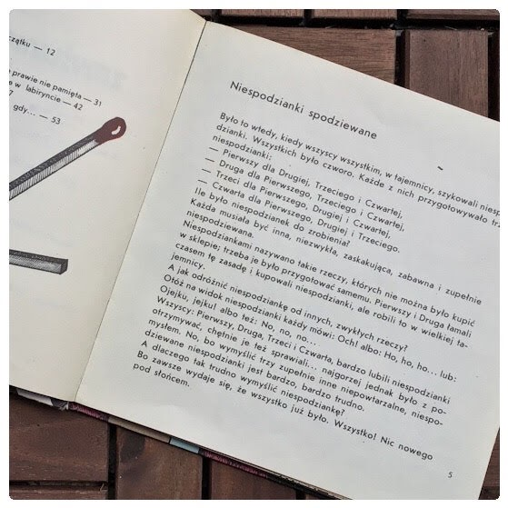 """""""Zmyślenia z myślenia"""" Jadwiga Jasny (tekst), Małgorzata Różańska (ilustracje), Nasza Księgarnia,"""