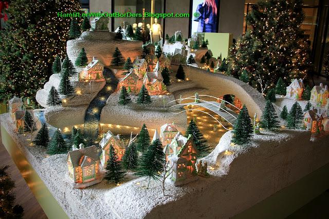 Swiss village, Christmas display, Greenbelt shopping mall, Makati, Manila, the Philippines