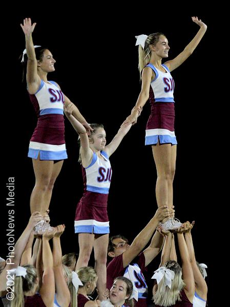 SJO Cheerleaders perform at halftime