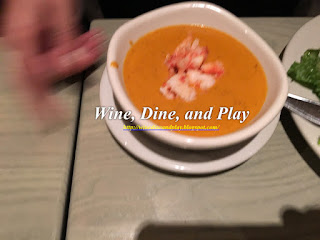 A lobster bisque starter at the Bonefish Grill in St Petersburg, Florida