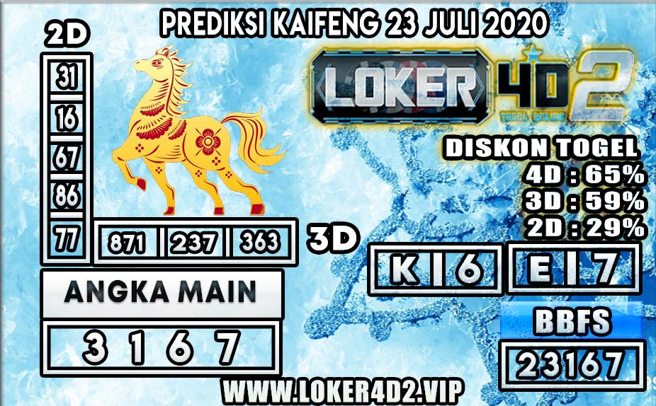 PREDIKSI TOGEL LOKER4D2 KAIFENG 23 JULI 2020
