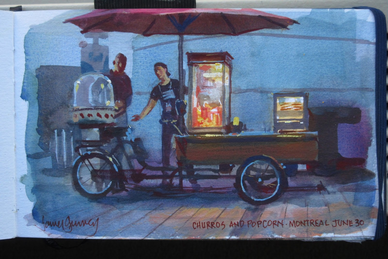 Food Vendor Painting Challenge