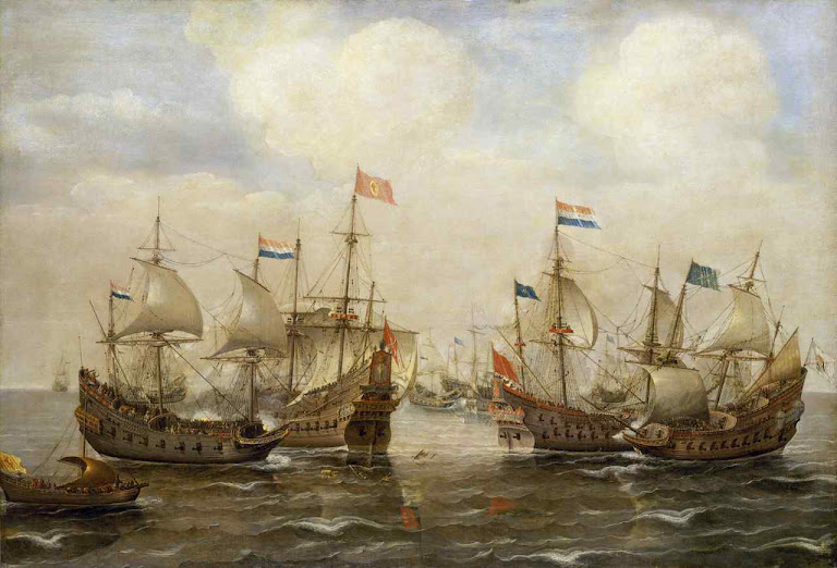 Batalha naval entre holandeses e espanhóis