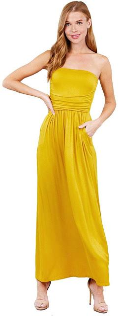 Beautiful Women's Long Strapless Maxi Dresses