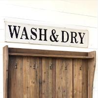 Farmhouse laundry room sign