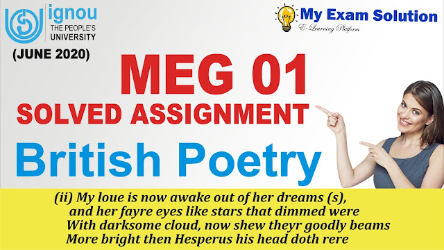 british poetry, british poetry assignment, ignou solved assignment