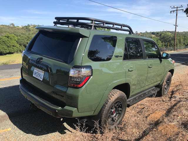 Rear 3/4 view of 2020 Toyota 4Runner 4X4 TRD PRO