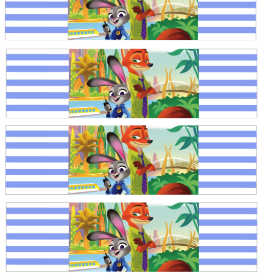 Zootopia Birthday Party Printable Files