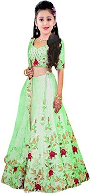 Silk Lehenga for girls(Age: 9 to 14 years)