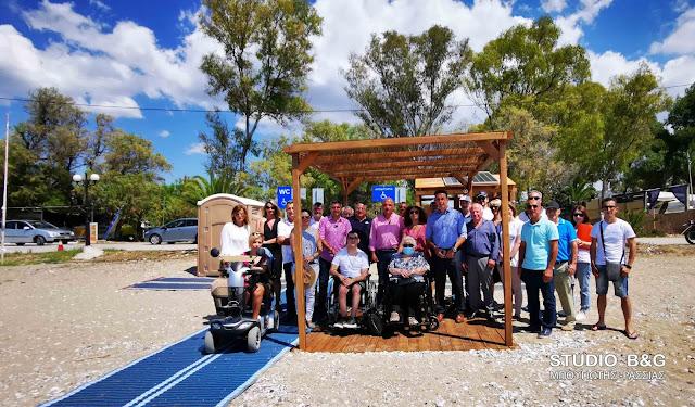 Ιδιαίτερη ικανοποίηση των ΑμεΑ για τις ράμπες εξυπηρέτησης στις παραλίες του Δήμου Ναυπλιέων (βίντεο)