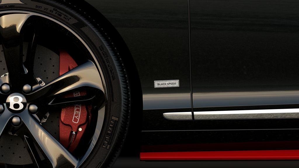 Bộ vành của siêu xe được trang bị trên Black Speed
