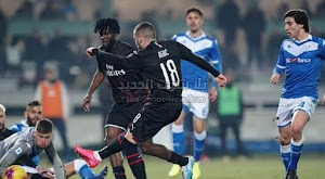 ميلان يصل للمركز السادس في الدوري الايطالي بعد الفوز بهدف وحيد علي بريشيا