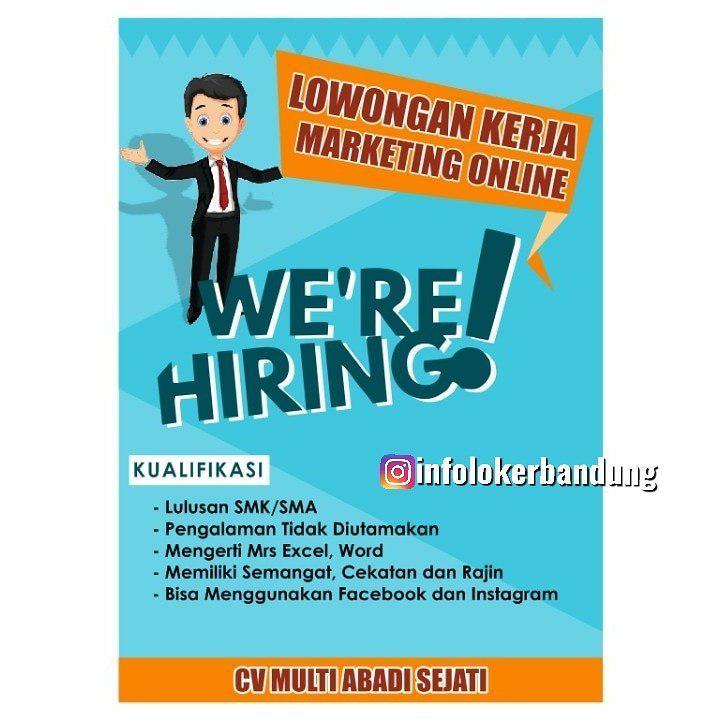 Lowongan Kerja CV. Multi Abadi Sejati ( Sally Loreng ) Bandung November 2019