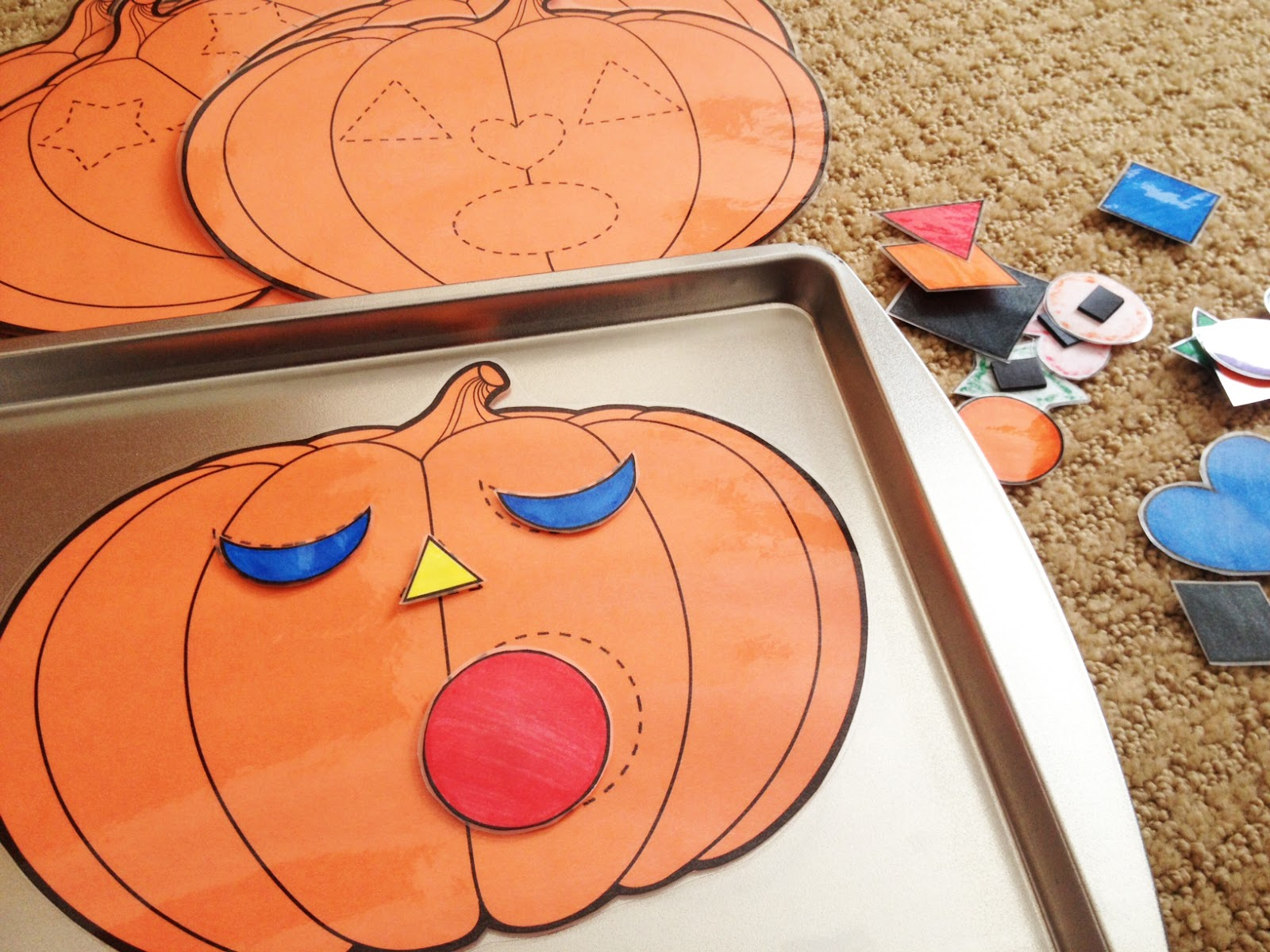 G Rated Frugal Friday Jack O Lantern Shape Matching