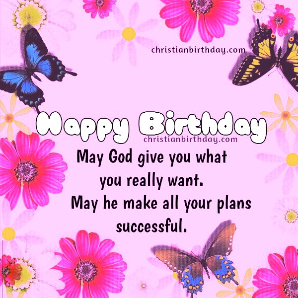 New Christian Birthday Card With Bible Verse For Girl Woman Lady Sister Daughter Christian Birthday Cards Wishes