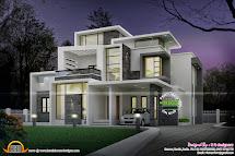 Grand Contemporary Home Design - Kerala And