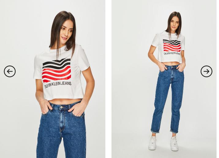 Top de vara alb/ negru Calvin Klein Jeans pret mic online