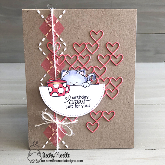 A birthday brew by Becky features Newton Loves Coffee and Argyle by Newton's Nook Designs; #newtonsnook
