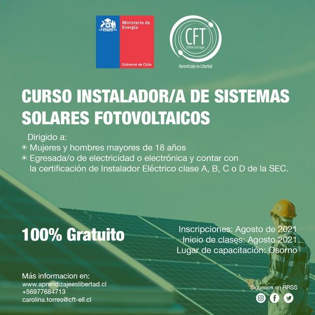 Instalación de Sistemas Solares Fotovoltaicos