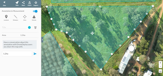 Chestnut Brae Drone scan Small farm planning map using Drone Deploy - Image 9