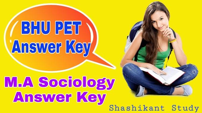 BHU PET M.A Sociology Answer Key