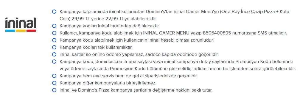 dominos pizza ininal kampanya ve promosyonları indirm fırsatları