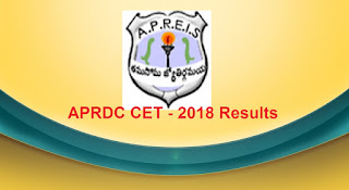 APRDC Results 2018, APRDC CET 2018 Results