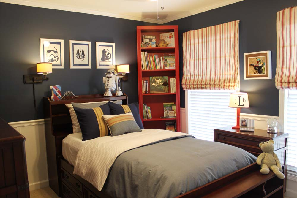 A star wars themed big boy room southern revivals - Teen room paint ideas ...