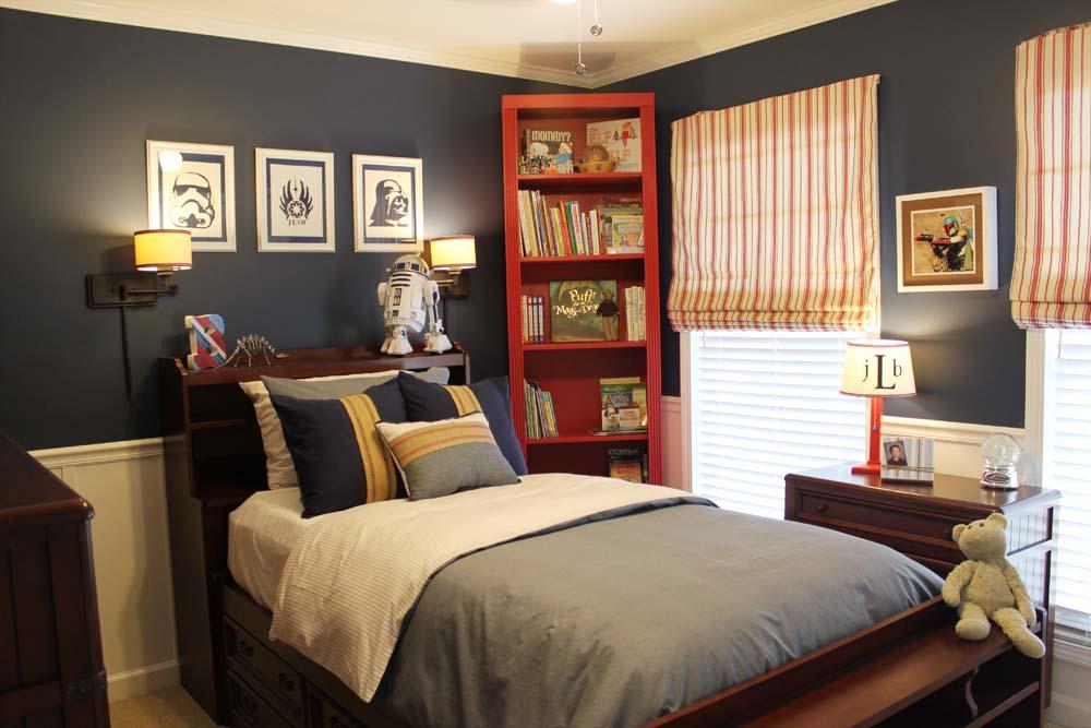 a star wars themed big boy room southern revivals. Black Bedroom Furniture Sets. Home Design Ideas