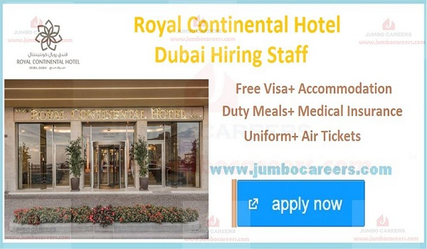 Latestr hotel job openings in Dubai, UAE hotel jobs with accommodation,