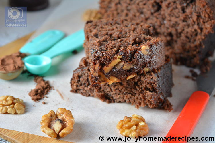 Ragi Banana Chocolate Cake