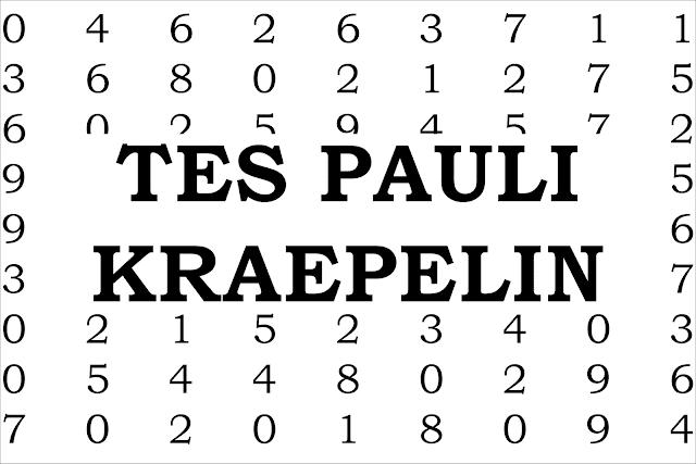 Cara Mengerjakan Tes Pauli
