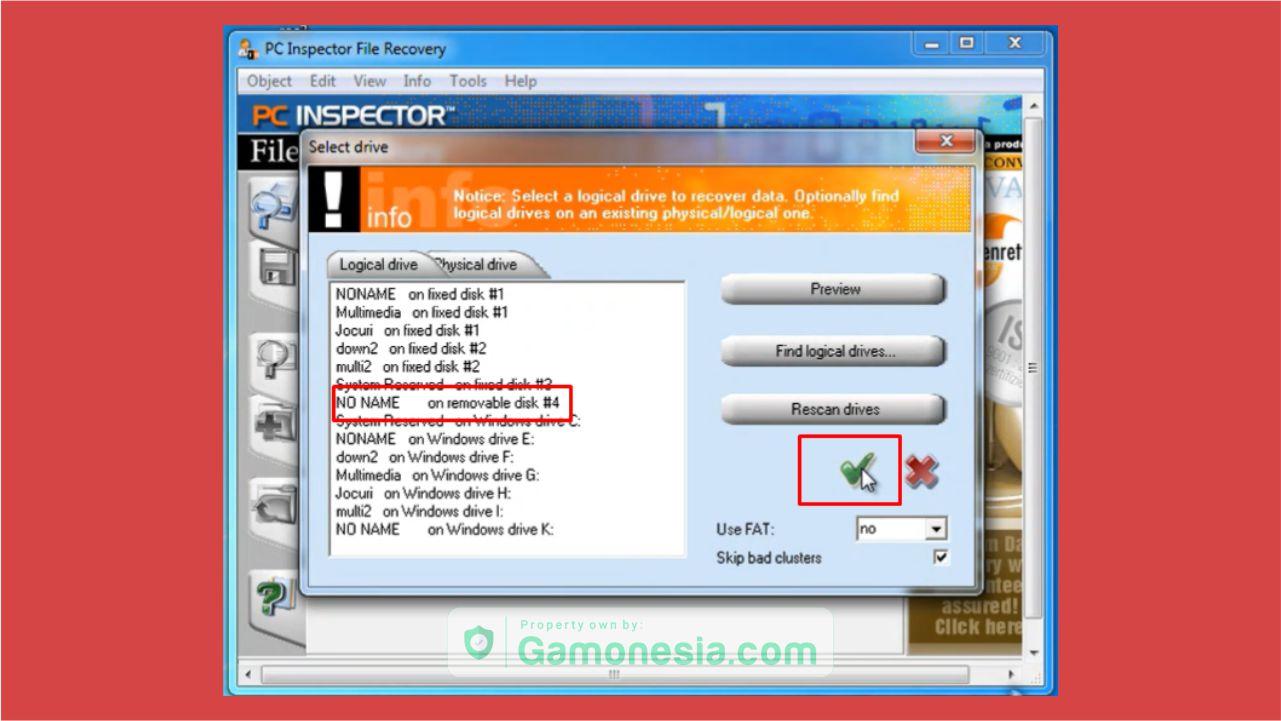 cara mengembalikan file yang terhapus di flashdisk dengan pc inspector file recovery