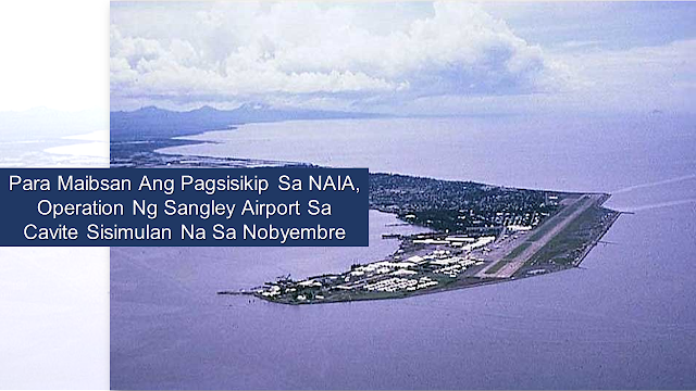 "Due to the congestion issues at the Ninoy Aquino International Airport that it does not seem to accommodate the volume of air passenger going to and from the airport, President Dutert directed Department of Transportation (DOTr) to divert some of its flights to Sangley Airport in Cavite before the year-end.        Ads    President Rodrigo Duterte wants Sangley Airport to be operational by November 2019 to accommodate international and domestic flights to decongest air traffic at the NAIA in Pasay City. The directive was made at the 38th Cabinet meeting.  According to Presidential Spokesperson Salvador Panelo, Transportation Secretary Arthur Tugade informed the President of the plan to commence the operation of Sangley airport by December this year. However, the president said that December would be a bit late and he wat the airport to be operational in November.   The DOTr has proposed to transfer general aviation flights or domestic flights to Sangley Point by yearend, once the ongoing rehabilitation works in the former military base, Danilo Atienza Air Base, are completed.  The development of the former airbase into an airport is expected to ease air congestion at the country's main gateway.  As to the issue of the proximity of the Sangley Airport, Tugade, in his presentation during the 38th Cabinet meeting, said there would be ferries that will operate from Mall of Asia in Pasay City to Sangley which the travel will take about ""18 to 24 minutes.""  Ads          Sponsored Links  Panelo said that the President was displeased about the congestion and flight delays which is often happening at the NAIA, hence he wanted the Sangley Airport operation to be expedited.      Sangley Airport Infrastructure Group Inc., a consortium led by Solar Group's All-Asia Resources and Reclamation Inc., submitted in March 2018 a $12-billion unsolicited proposal to finance, construct, and develop a new airport in Sangley, Cavite that will be called ""Philippine Sangley International Airport."""