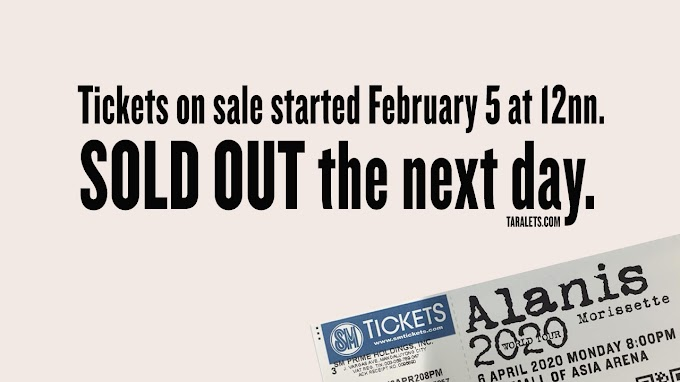 Alanis Morissette on April 6 in Manila is SOLDOUT!