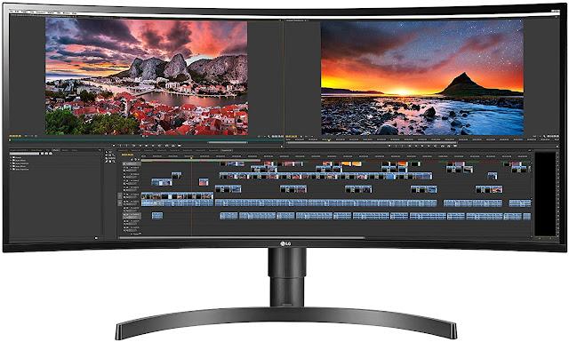 LG 34WN80C-B 34 inch 21:9 Curved UltraWide WQHD IPS Monitor