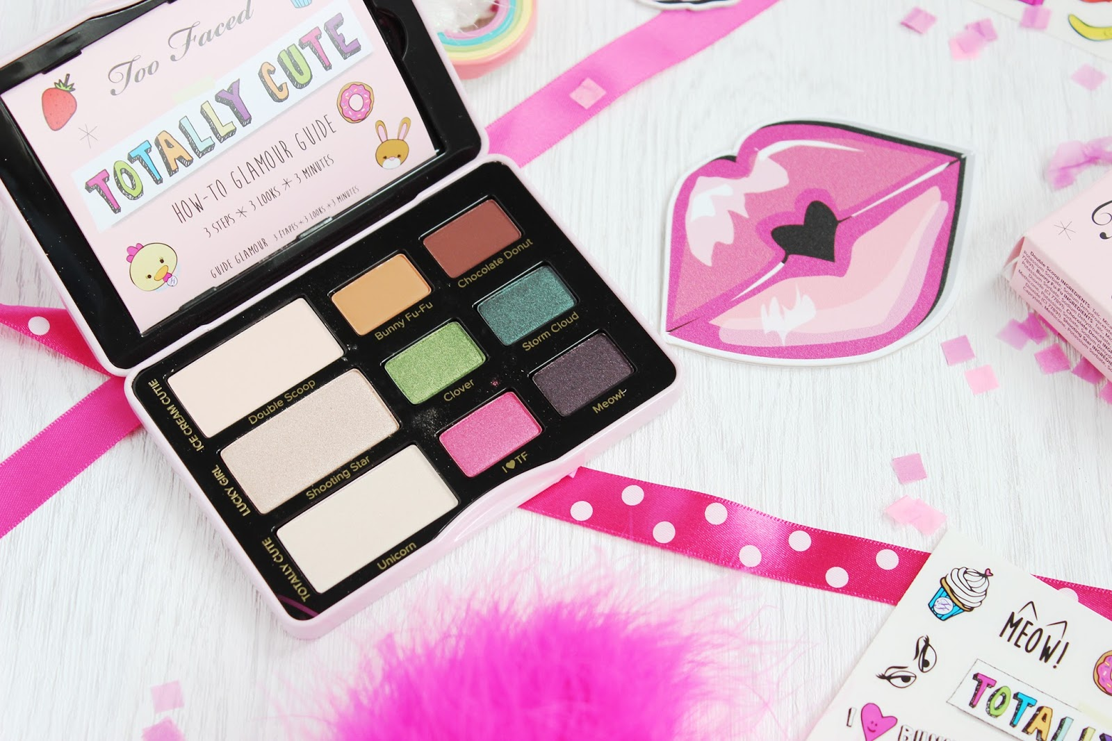 Too Faced Totally Cute eye shadow palette review and swatches