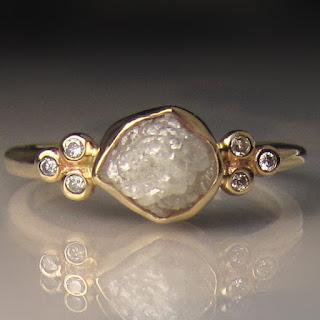 janish jewels raw diamond engagement ring