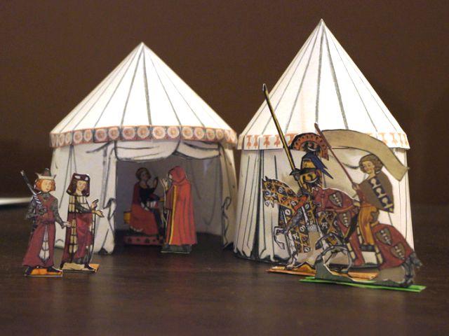 Papercraft Medieval Tents & Papercraft Medieval Tents | Tektonten Papercraft
