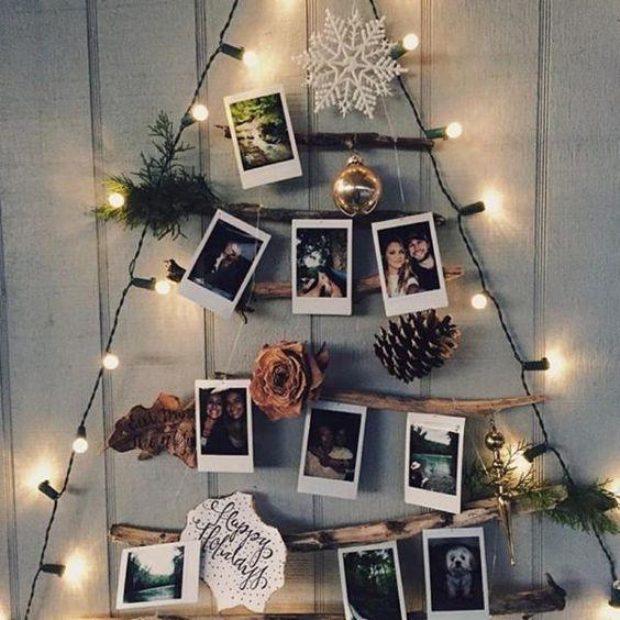 Árbol de Navidad personal con fotos y recuerdos