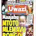 Tanzanian Today's Newspapers MAGAZETI YA TANZANIA LEO JUMANNE 01st October, 2019