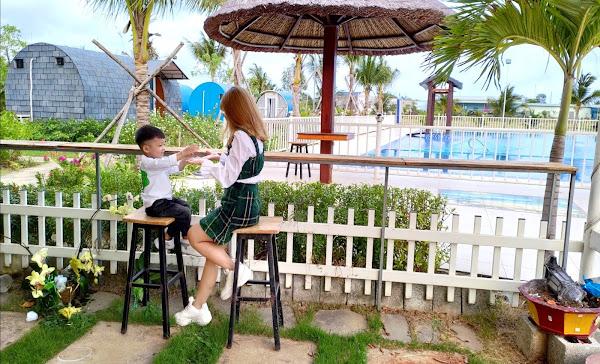 khu vực hồ bơi nước ngọt trong dự án khu nghỉ dưỡng happy garden Hồ Tràm