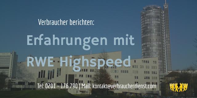 Titelbild: Erfahrungen mit RWE Highspeed